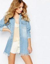 Supertrash - Bisou - Camicia oversize di jeans sfrangiata