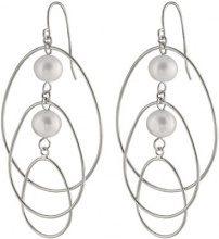 Bella Pearls Donna  925  argento Rotonda Semisferica perla cinesa da coltivazione bianco Perla FINEEARRING