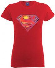 DC Comics - Maglietta, Manica corta, Donna, rosso (Cherry Red), L