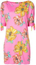Trina Turk - floral print mini dress - women - Polyester/Spandex/Elastane - S, L, XL - PINK & PURPLE