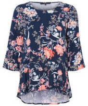 VERO MODA Feminine 3/4 Sleeved Blouse Women Blue