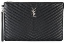 Saint Laurent - Portatessere - women - Leather - OS - Nero
