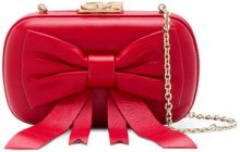 Corto Moltedo - Susan Bow clutch - women - Nappa Leather/Silk Satin - OS - Rosso
