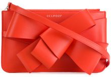 Delpozo - Borsa Clutch con fiocco - women - Leather - OS - RED