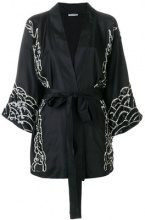 P.A.R.O.S.H. - embroidered wrap jacket - women - Silk/PVC - XS, S, M - BLACK
