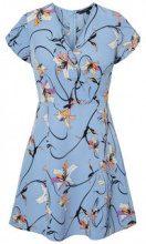 VERO MODA Flower Short Sleeved Dress Women Blue