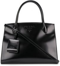 Prada - logo tote bag - women - Leather - One Size - BLACK