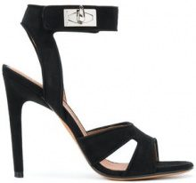 Givenchy - shark lock sandals - women - Leather/Suede/Lamb Nubuck Leather - 36, 37, 37.5, 38, 38.5, 39, 40, 41 - BLACK