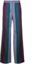 Ps By Paul Smith - striped wide-leg trousers - women - Cotton/Acetate/Viscose - 38, 40, 42, 44 - BLUE