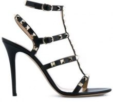 - Valentino - Sandali con decorazioni Rockstud - women - Leather/metal - 35.5, 36, 37, 37.5, 38, 40.5 - Nero