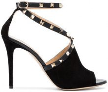 Valentino - Sandali Rockstud 105 - women - Suede/Leather - 35, 36, 39, 40, 41 - Nero