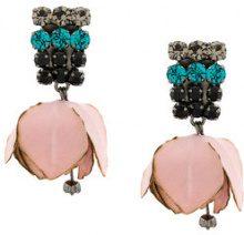 Marni - Orecchini con tulipano - women - Cotton/metal/glass - OS - PINK & PURPLE