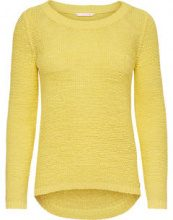 ONLY Solid Knitted Pullover Women Yellow