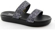 Scarpe Pregunta  IAF2725 nero scarpe donna ciabatta pelle elastico brillantini g