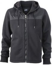 James & Nicholson - Jacke Mens Jacket Teddy Lined, Giacca Uomo, Nero (Black), Medium (Taglia Produttore: Medium)