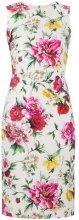 Dolce & Gabbana - Tubino a fiori - women - Silk/Cotton/Spandex/Elastane/Viscose - 42, 46, 40, 44 - WHITE