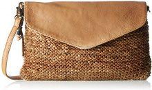 LegendLarino - Borsa a tracolla Donna , beige (Beige (Wood)), 4x18x27 cm (B x H x T)