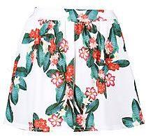 Helena gonna-pantaloncino con stampa hawaiana