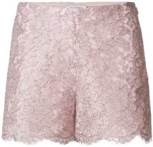 Valentino - lace shorts - women - Silk/Cotton/Acrylic/Metallic Fibre - 42 - PINK & PURPLE