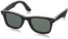 Ray-Ban Mod. 2140 Sun, Occhiali da Sole Unisex Adulto, Multicolore (Blau/Nero), 50 mm