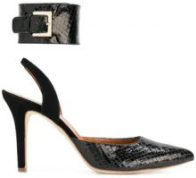 Via Roma 15 - snakeskin effect pumps - women - Patent Leather/Leather - 36, 38, 40, 41 - Nero