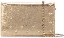 Jimmy Choo - star studded clutch - women - Calf Leather - One Size - YELLOW & ORANGE