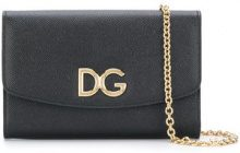 Dolce & Gabbana - Portafoglio con catena - women - Calf Leather/Leather - One Size - BLACK