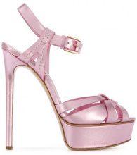 Casadei - platform sandals - women - Leather/Kid Leather - 35, 35.5, 36, 36.5, 37, 38, 39, 39.5, 40, 41 - PINK & PURPLE