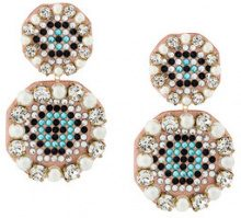 Shourouk - Orecchini pendenti 'Eye' - women - Leather/Plastic/Brass - OS - Color carne & neutri