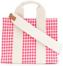 Rue De Verneuil - gingham tote bag - women - Cotton - OS - PINK & PURPLE