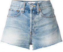 Re/Done - The Short raw hem shorts - women - Cotton - 25, 26, 27, 28, 29 - BLUE