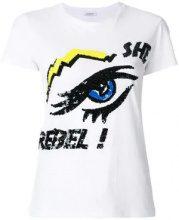 P.A.R.O.S.H. - T-shirt 'She Rebel' - women - Cotton/PVC - XXS, XS, S, M - WHITE