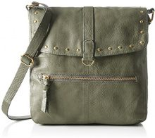 PIECES Pcnadeen Leather Large Cross Body - Borse a tracolla Donna, Grün (Dark Olive), 3x26x26 cm (B x H T)