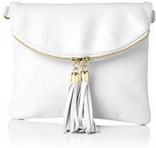 Bags4LessDubai - Sacchetto Donna , Bianco (Bianco (weiss)), 4x19x22 cm (B x H x T)