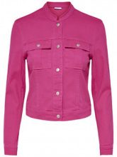 ONLY Short Denim Jacket Women Pink