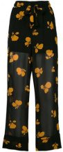 Ganni - floral trousers - women - Viscose - 36, 38, 40, 42, 34 - BLACK