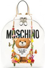 Moschino - Teddy backpack - women - Leather/Polyester - One Size - WHITE