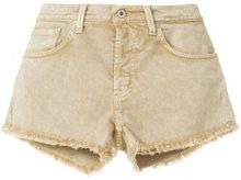 Dondup - Shorts con orlo sfilacciato - women - Cotone/Spandex/Elastane - 29 - Color carne & neutri