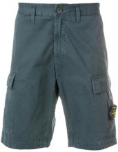 Stone Island - Shorts aderente - men - Cotton - 32, 30, 31, 33, 29, 34 - BLUE