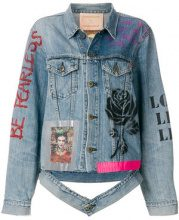 Night Market - Giacca in denim 'Frida Fearless' - women - Cotton - S - BLUE