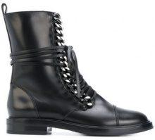 Casadei - Stivaletti alla caviglia 'City Rock' - women - Leather/rubber - 35, 36, 36.5, 37.5, 38, 42, 39, 39.5 - Nero
