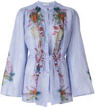 Etro - Camicia floreale - women - Silk/Cotone - 44, 42, 46 - Blu