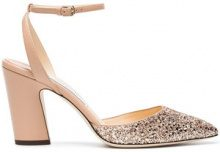 Jimmy Choo - Pumps 'Micky 85 Glitter' - women - Leather/Sequin - 36, 36.5, 39.5, 37.5, 38.5, 39, 35, 35.5, 38, 40, 41 - PINK & PURPLE