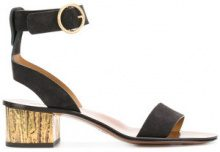 Chloé - Sandali con tacco largo - women - Leather/Suede - 38.5, 39, 40, 38 - Nero