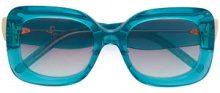 Pomellato Eyewear - Occhiali da sole oversize - women - Acetate - 53 - BLUE