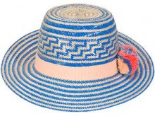 Yosuzi - cappello 'Simea' - women - Cotone/Wool/Straw - 57 - Blu
