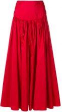 Stella McCartney - fitted waist skirt - women - Silk/Polyester - 40, 42 - RED