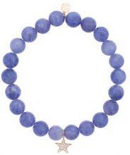 Sydney Evan - Braccialetto con perline e ciondolo a forma di stella con diamanti - women - Diamond/14kt Gold/Pietra - OS - BLUE