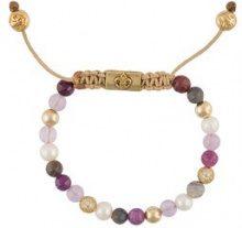 Nialaya Jewelry - braccialetto perline - women - Pearls/Sterling Silver/Sapphire/Labradorite - XS, S, M, L - PINK & PURPLE