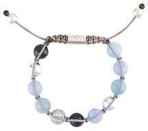 Nialaya Jewelry - braccialetto con perline - women - Silver - XS, S, M, L - Blu